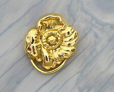 BROOCH vintage handkerchief clip flower