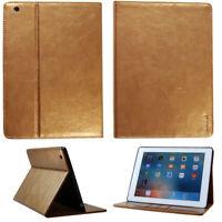 Premium Leder Cover für Apple iPad 2 3 4 Tablet Schutzhülle Case Tasche gold