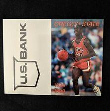 1989-90 Oregon State University Basketball Pocket Schedule - Gary Payton