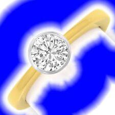 Solitäre Echtschmuck-Ringe aus mehrfarbigem Gold