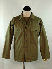WWII US Army Plain Green HBT Utility Jacket size 44 (L)