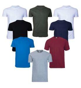 Mans plain crewneck t Shirt -UK best Quality S-2XL