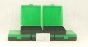 9mm / 380 Ammo Box Green/Black 100 Round (Quantity 5) Free Shipping (Berry's)