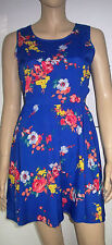 ATMOSPHERE Blue Multi Floral Cut Out Sides Sleeveless Summer Dress Size 10