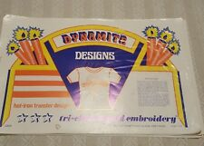 DYNAMITE DESIGNS Vintage Tri-Chem Hot Iron Transfer Patterns Book - 11 Pages