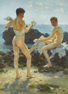 POSTCARD / H.S. TUKE / Under the western sun, 1917 / Gay Interest