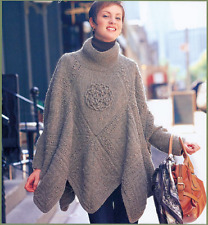 Celtic Knot Womans Poncho One Size DK Wool -  Knitting Pattern