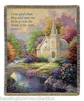 """THROWS - HOUSE OF THE LORD TAPESTRY THROW - 50"""" X 60"""" THROW BLANKET"""