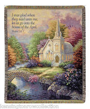 "Throws - House Of The Lord Tapestry Throw - 50"" X 60"" Throw Blanket"
