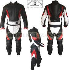 Tute in pelle e altri tessuti dui pezzi rossi per motociclista