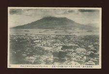 Japan SAKURAJIMA and KAGOSHIMA General view naval fleet? PPC c1900/10s?