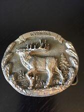 Wyoming Elk Belt Buckle Colorado Silver Star 1992 Usa Numbered Dimensional