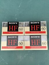 Sony HF 60 Lot of 4 High Fidelity Blank Audio Cassette Tapes Normal Bias C-60HF