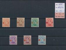 LO69408 Belgium 1918 red cross overprint Albert I fine lot MH cv 63 EUR