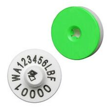 10X NLIS Enviro Cattle Ear Tags Electronic Identification HDX RFID White Breeder