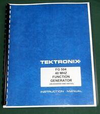 "Tektronix FG 504 Instruction Manual: w/ 11""X17"" Foldouts & Protective Covers"