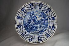 Blue 1973 Meakin God Bless Our House Calendar Zodiac Plate