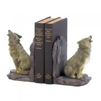 NEW Rustic Country Western Cowboy Gifts Office Decor Wildlife Statue Bookends