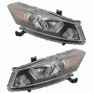 FOR HD ACCORD COUPE 2008 2009 2010 HEADLIGHT RIGHT & LEFT PAIR SET (TYC)