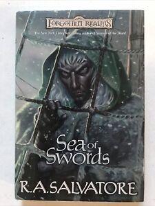 Sea of Swords R. A. Salvatore Hardback Dust Jacket 1st Ed 2001 Forgotten Realms