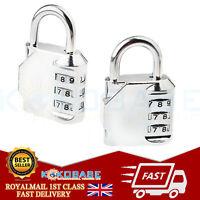 1 PCS  3 Digit Combination Padlock Number Luggage Travel Code Lock UK SELLER