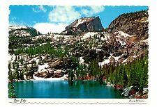 Bear Lake Postcard Colorado Rocky Mountain National Park Hallet Peak 9500 Ft  #2
