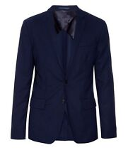 Acne Studio's Men's Blue Jack Travel Navy Single-breasted Wool-twill Blazer EU48