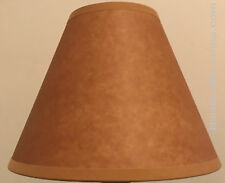 Rustic Bulb-Clip Faux Oil Kraft Table Desk Light Lamp Shade Cottage Cabin Decor