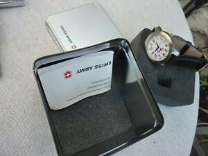 Victorinox Swiss Army Watch Stainless New Never Worn White Dial Fed Ex