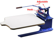 1 Color One Station Screen Press Adjustable Pallet Screen Printing Machine