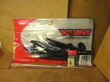 "Yum 6"" Thump'n Dinger Worms, Black, #YTHD6110, 10 Count (New/Old Stock)"