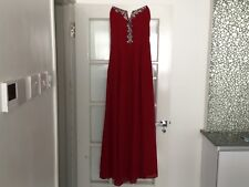 Little mistress strawberry red maxi dress 22 with bead embellishment best