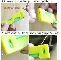 New 3Pcs Plastic Elderly Use Needle Automatic Threader Sewing Device Tool