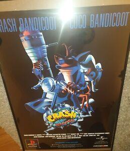 Ultra Rare Crash Bandicoot Warped Terminator promo poster A1. Sony PS1 collector