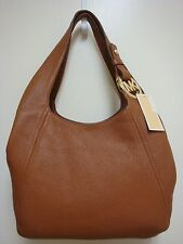 NEW MICHAEL KORS FULTON LUGGAGE BROWN LEATHER PURSE OR SHOULDER TOTE