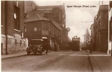 Upper George Street  Luton Motor Car Tram unused RP pc Milton
