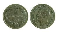 pcc1275_4) Regno d Italia Vittorio Emanuele II  Centesimi 5 Valore 1861 Mi