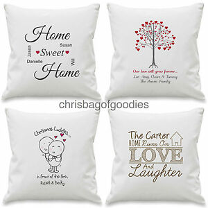 PERSONALISED NOVELTY CUSHION COVER for Birthday Christmas Wedding Gifts Present