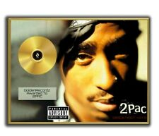 Tupac Poster, 2PAC Greatest Hits GOLD/PLATINIUM CD, gerahmtes Poster HipHop Rap
