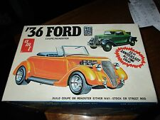 Vintage 1974 AMT '36 Ford Coupe or Roadster Model Kit 1/25 Scale open