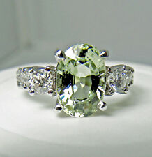 4.38CT Untreated Fine Sapphire Diamond Engagement Ring 18k EGL USA Certified