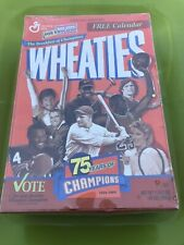"""1998 Wheaties Box Unopened """"75 Years Of Champions"""" W/Calender Factory Sealed!!"""
