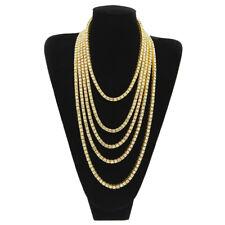 c87dcff58584e 18K Gold Iced Out Lab Diamond Chain Tennis Choker Men Hip Hop Necklace 1  Row 5mm