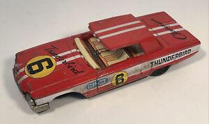 Vintage Bandai Tin Friction 1960 Ford Thunderbird Champion Parts Car As Is Japan