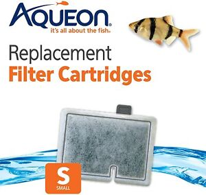 Aqueon Small Replacement Filter Cartridges 12 Pack  For MiniBow Aquarium Filters