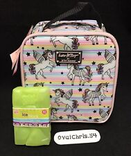 Luv Betsey Johnson Rainbow Unicorns Insulated Lunch Tote Bag