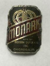 antique MONARK bicycle HEAD BADGE tag SIlver King 5 Bar Superframe #1