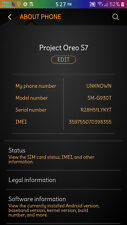 Oreo 8 Rooted,Custom Samsung Galaxy S7 SM-G930T 32GB  Black Unlocked GSM