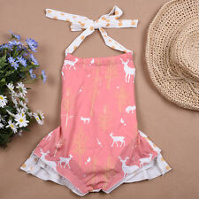 Toddler Infant Baby Girl Flora Romper Jumpsuit Bodysuit Outfit Sunsuit Clothes