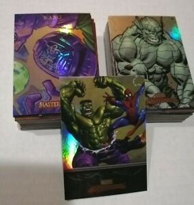 Complete Set! 2007 MARVEL MASTERPIECES FOIL Fleer | #1-90 Base Set